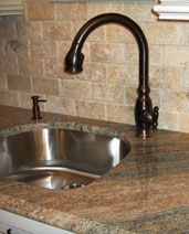 granite counter top with undermount sink